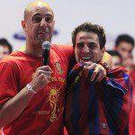 Spagna, festa per il Mondiale: Cesc Fabregas con la maglia del Barcellona