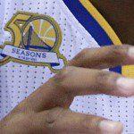 Basket, Nba: ecco il nuovo <em>patch</em> di Golden State. Celebra le 50 stagioni nella Baia di San Francisco