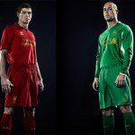 Calcio, Liverpool: maglia Home Warrior 2012/13